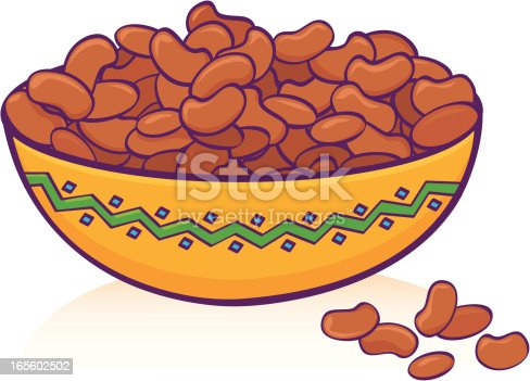 Bean Bowl Stock Vector Art & More Images of Bean 165602502 ...