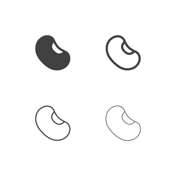 ilustrações de stock, clip art, desenhos animados e ícones de bean icons - multi series - feijão