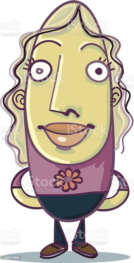 Bean People - Nice Girl royalty-free bean people nice girl stock vector art & more images of adult