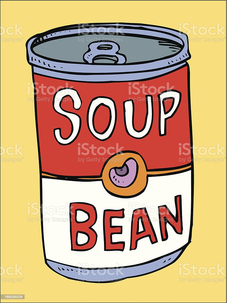 Bean Soup (vector illustration) royalty-free stock vector art