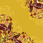 Beans abstract floral design