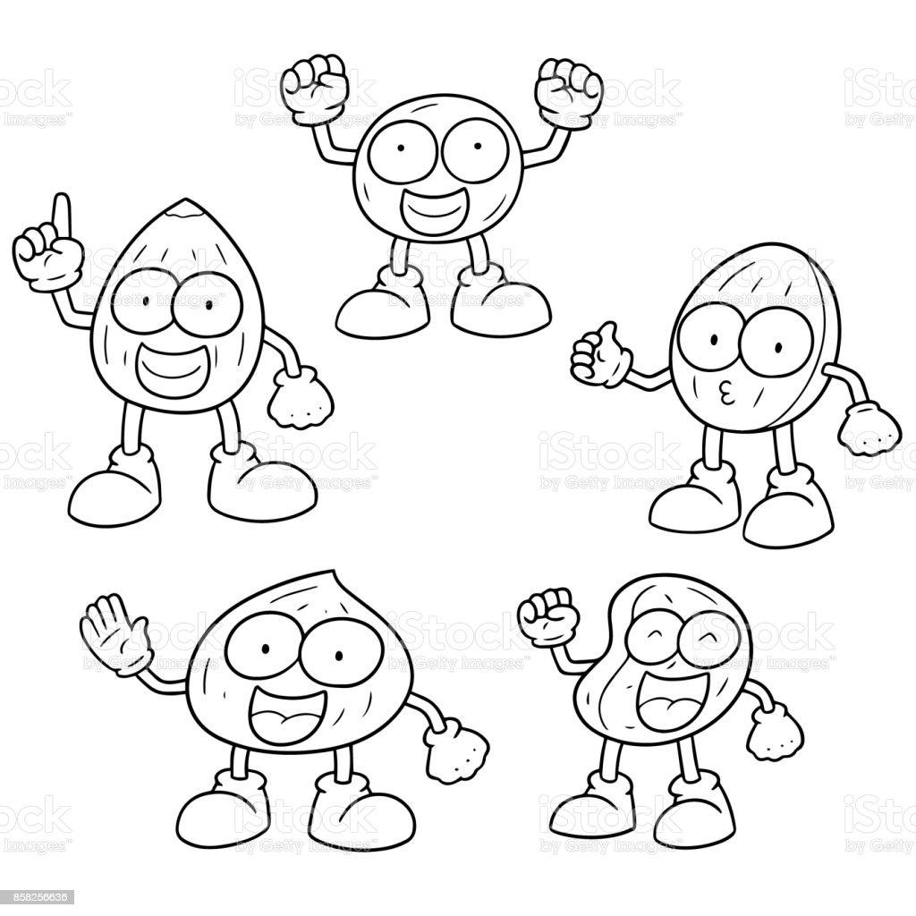 beans cartoon vector art illustration