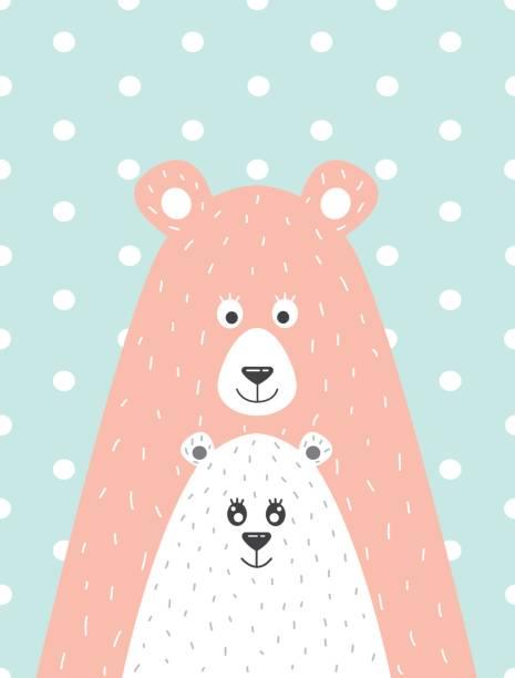 oso y el osito - ilustración de arte vectorial