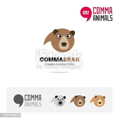 Bär Tier Konzept Symbol Vorlage Für Moderne Marke Identität Und ...