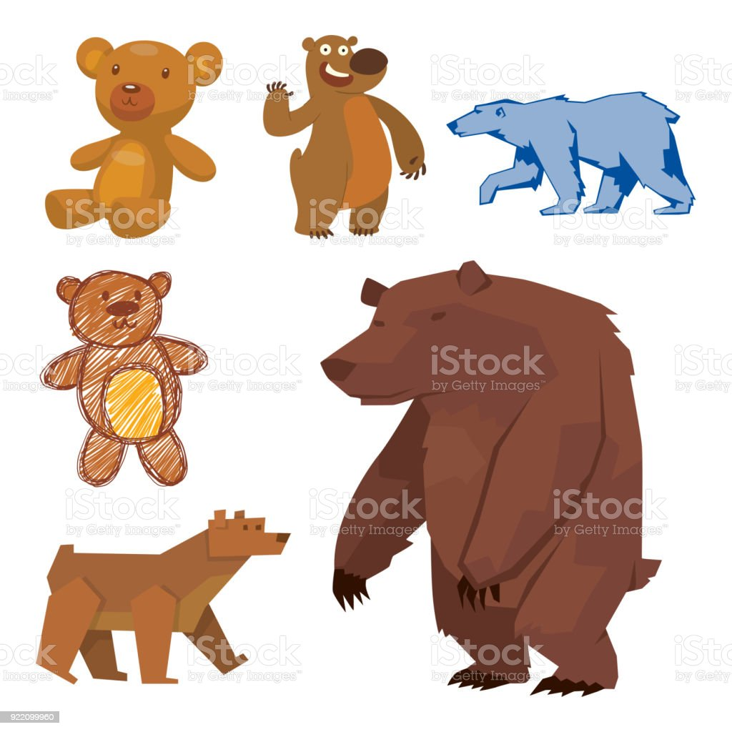 Bear Animal Vector Mammal Teddy Grizzly Funny Happy Cartoon Predator ...