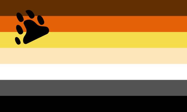 bear brotherhood flag - one of a communities of lgbt pride sexual minority - minority stock illustrations, clip art, cartoons, & icons