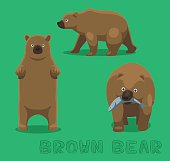Bear Brown Bear Cartoon Vector Illustration