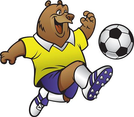 Cartoon Fussball