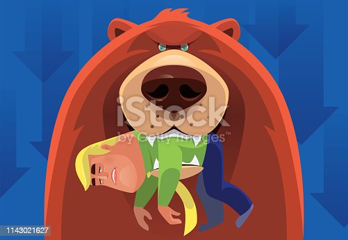 istock bear catching businessman 1143021627