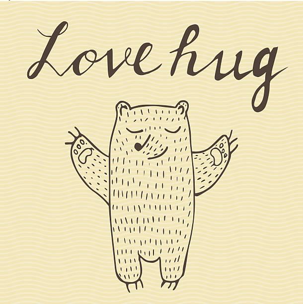 One Line Text Art Hug : Royalty free bear hug clip art vector images
