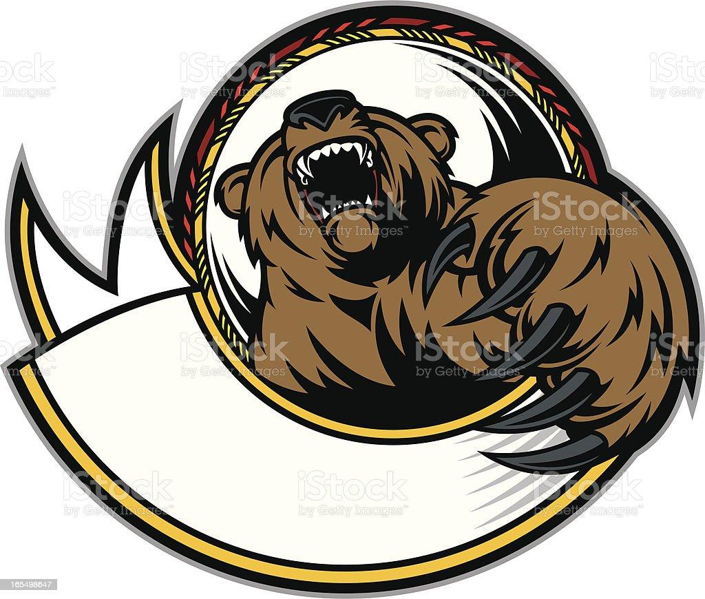Bear Claw & Growl vector art illustration