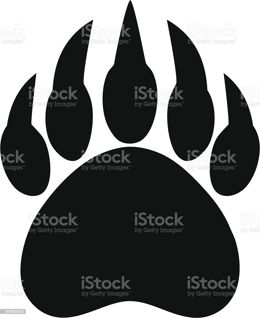 Bear Claw Print vector art illustration