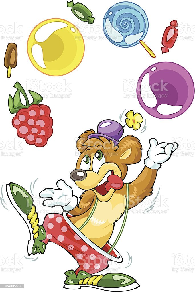Bear clown and sweets royalty-free bear clown and sweets stock vector art & more images of animal