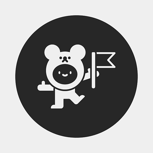 bear costume icon bear costume icon ucla medical center stock illustrations