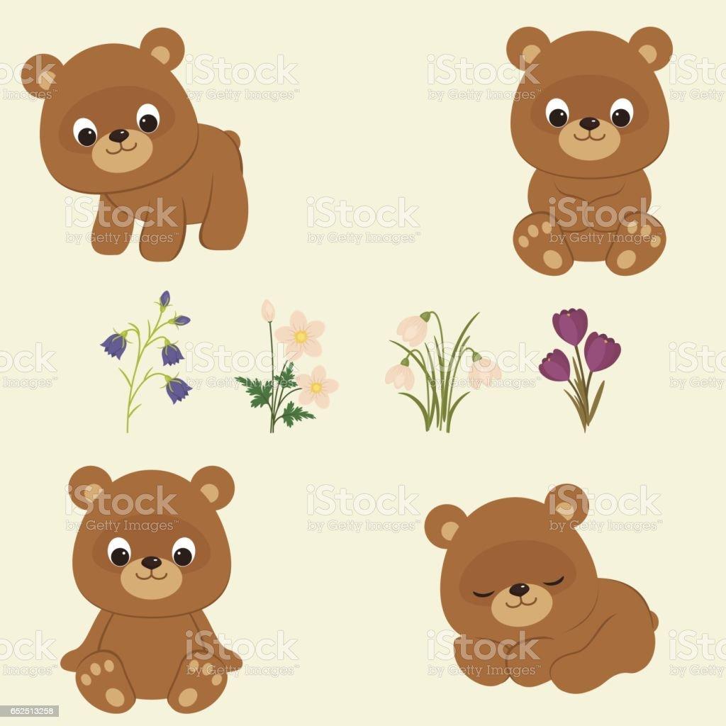 royalty free bear cub clip art vector images illustrations istock rh istockphoto com polar bear cub clipart bear cub images clip art