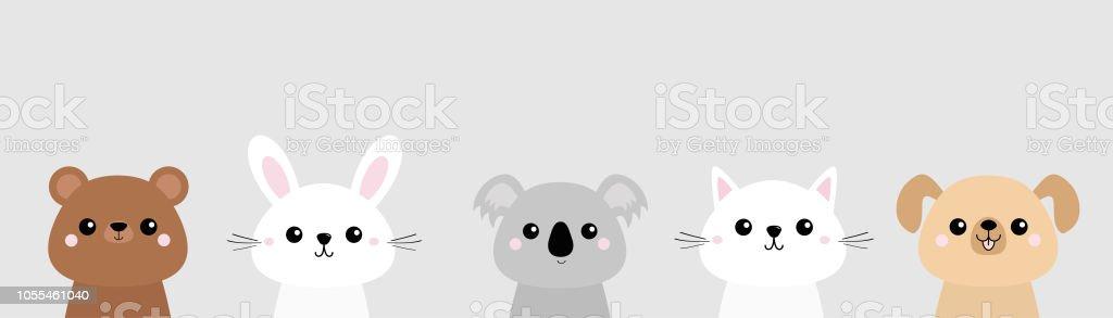 Ilustracion De Oso Perro Gato Gato Conejo Liebre Grizzly Koala