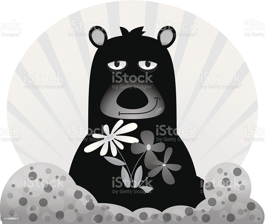 Bear Flowers royalty-free bear flowers stock vector art & more images of animal wildlife