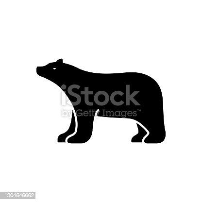 Icon for bear, grizzly, bruin, brown bear, hunting, omnivores, badge, mammal, fauna, predator, animal, pet