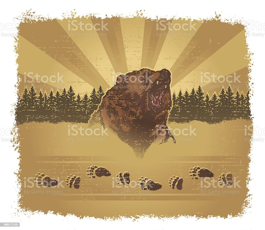 Bear Grunge - Royalty-free Animal Body Part stock vector