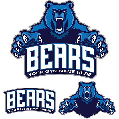 Bear Gym design. Great addition to any gym branding.