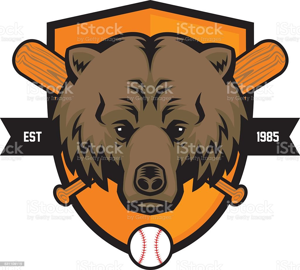 royalty free bear mascot heads clip art vector images rh istockphoto com