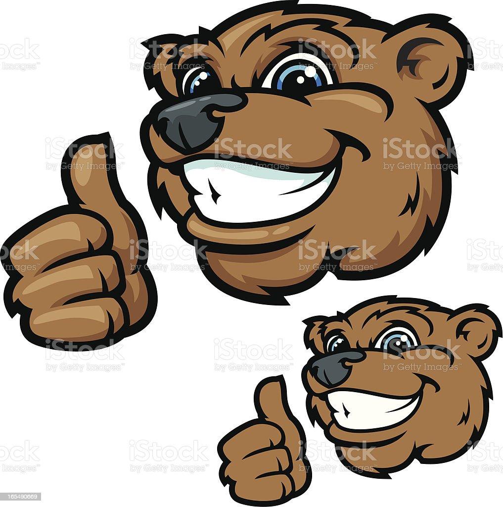 Bear Head Kids Series vector art illustration