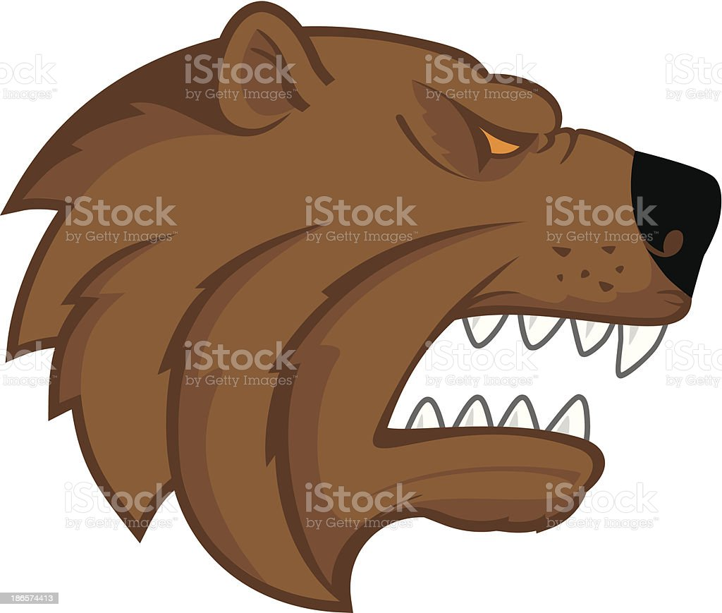 Bear head logo royalty-free stock vector art