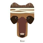 bear head text