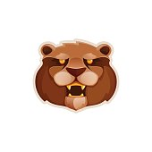 Bear head volume vector.