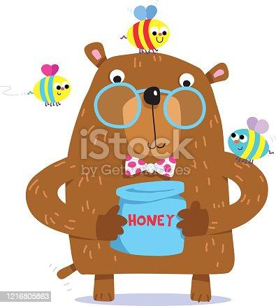 istock Bear honey pot. 1216805863