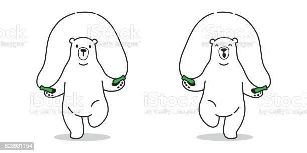 Bear icon polar bear skipping rope vector illustration doodle vector id823931154?b=1&k=6&m=823931154&s=612x612&h=xuflqktomfj5albug2o8yfkeyg6vyifnk77gec9j7mm=