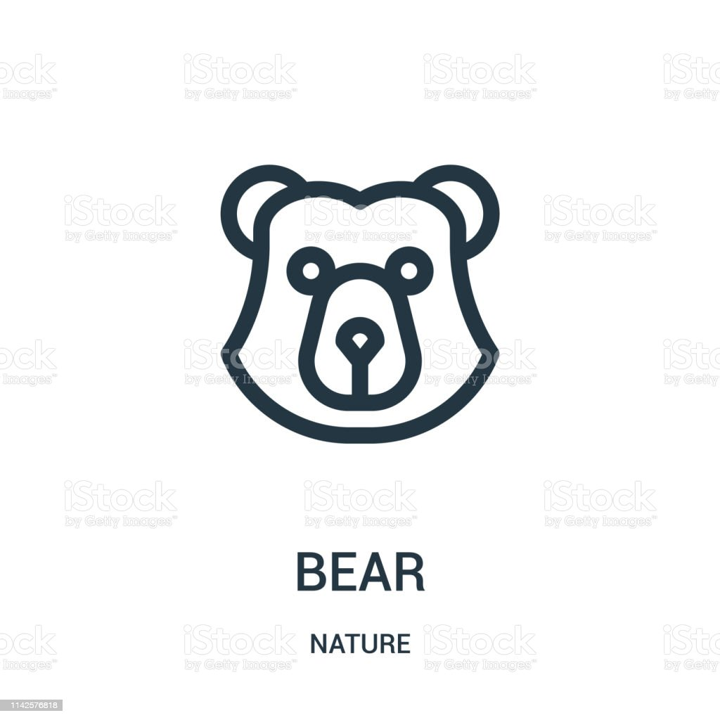 bear icon vector from nature collection. Thin line bear outline icon...