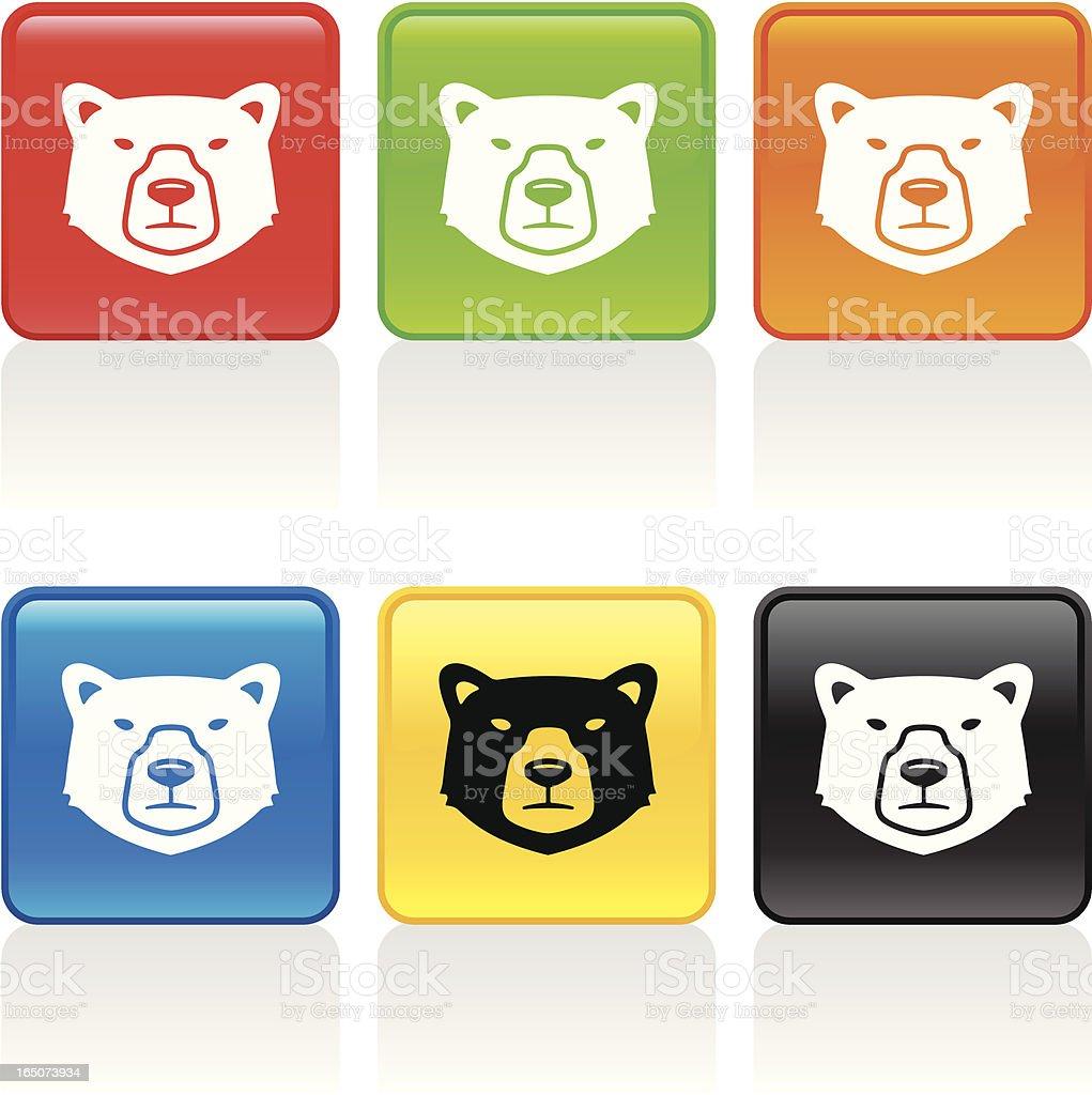 Bear Icon royalty-free stock vector art