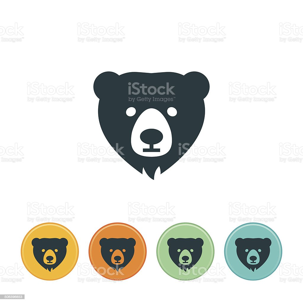 Bear Icon vector art illustration