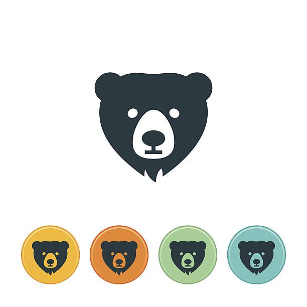 ilustrações de stock, clip art, desenhos animados e ícones de ícone de urso - urso