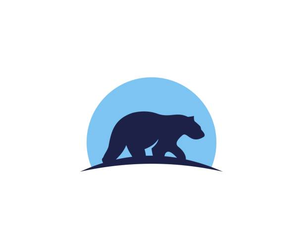 Bear icon vector art illustration