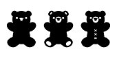 Bear icon vector teddy polar bear doll logo cartoon character illustration doodle