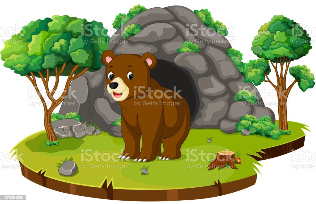 royalty free bear cave clip art vector images illustrations istock rh istockphoto com cave clipart image cave clipart png