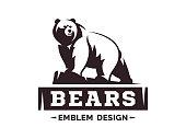 Bear logo - vector illustration, emblem design on white background