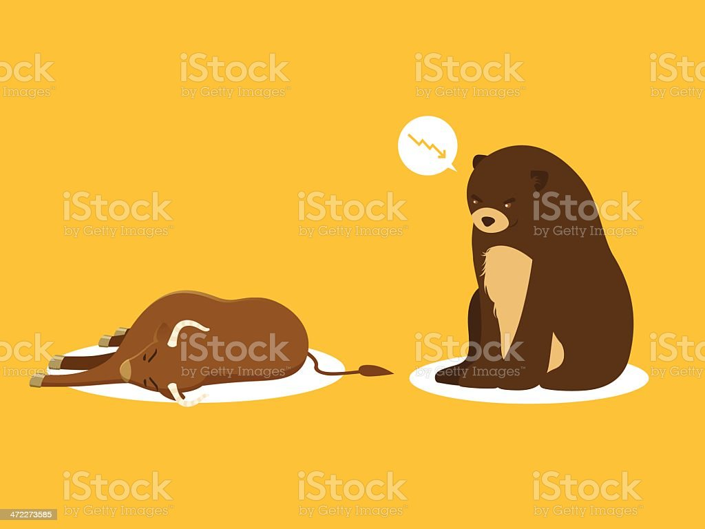 Bear Market royalty-free stock vector art