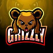 Vector Illustration of Bear mascot esport logo design