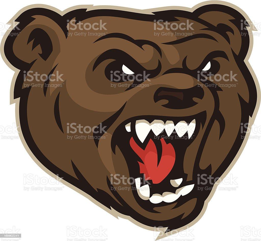 Bear Mascot Head royalty-free stock vector art
