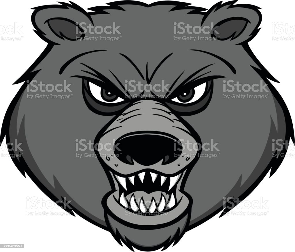 Bear Mascot Illustration vector art illustration