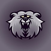 Bear mascot logo design vector with modern illustration concept style for badge, emblem and t shirt printing