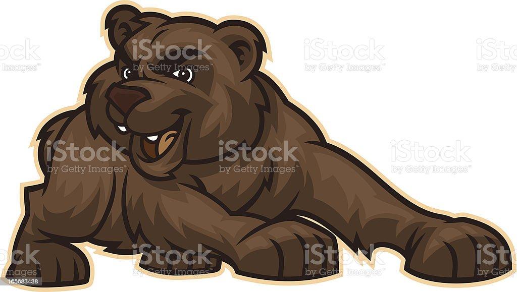 Bear Mascot vector art illustration