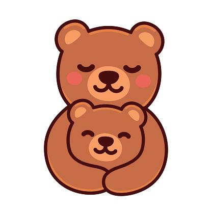 Bear mom and baby