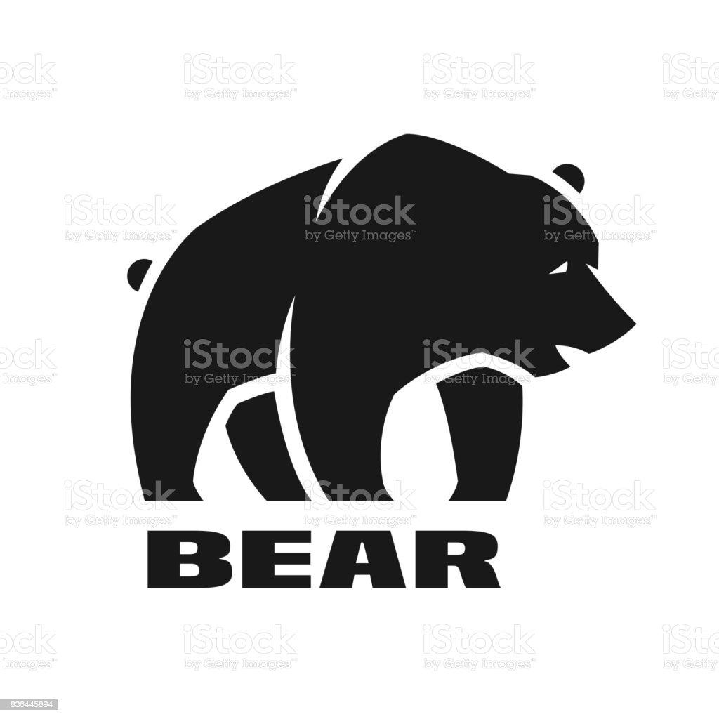 Bär, Monochrom-Symbol. – Vektorgrafik
