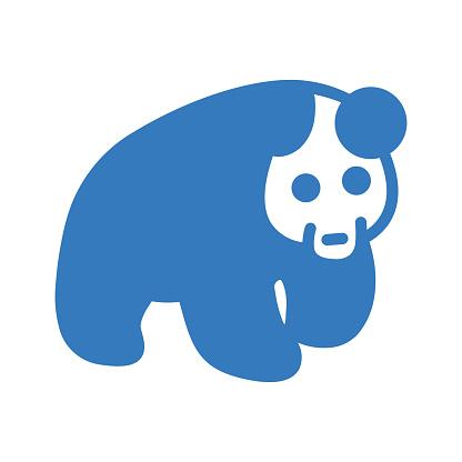 Bear, Panda Icon / blue color
