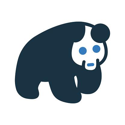 Bear, Panda Icon / vector graphics