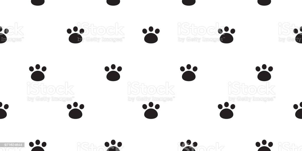 Ilustración de Bear Paw Pie Impresión Oso Polar Vector Aislado Fondo ...